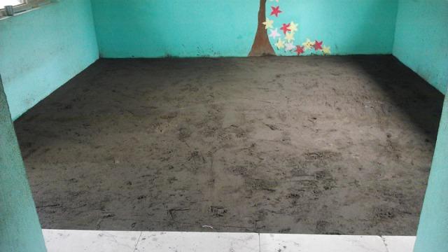 Une chambre : changement du revétement du sol