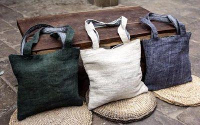Partenariat himali-himalayan made, vente de sacs en chanvre